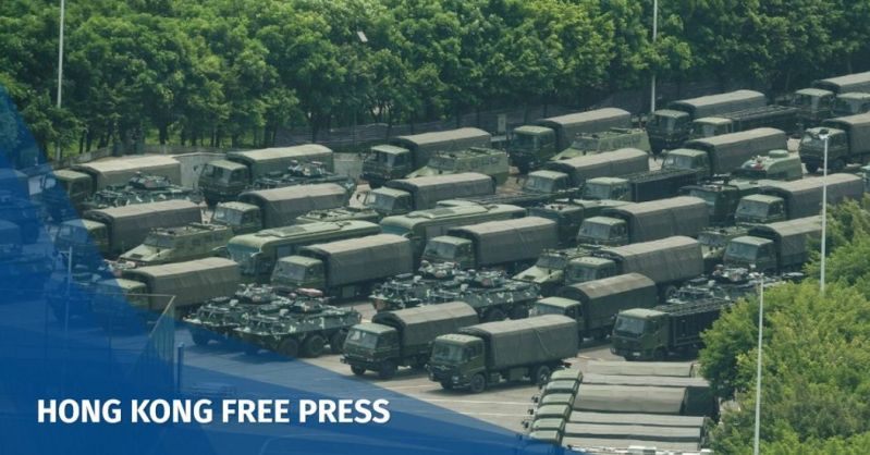 Trucks and armoured personnel carrier