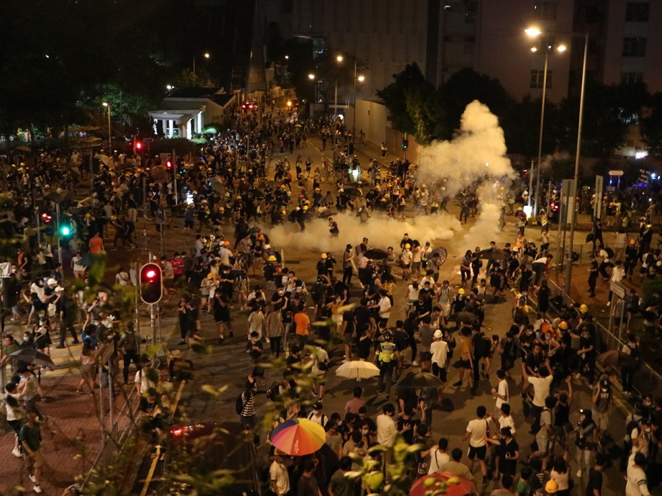Wong Tai Sin tear gas August 3
