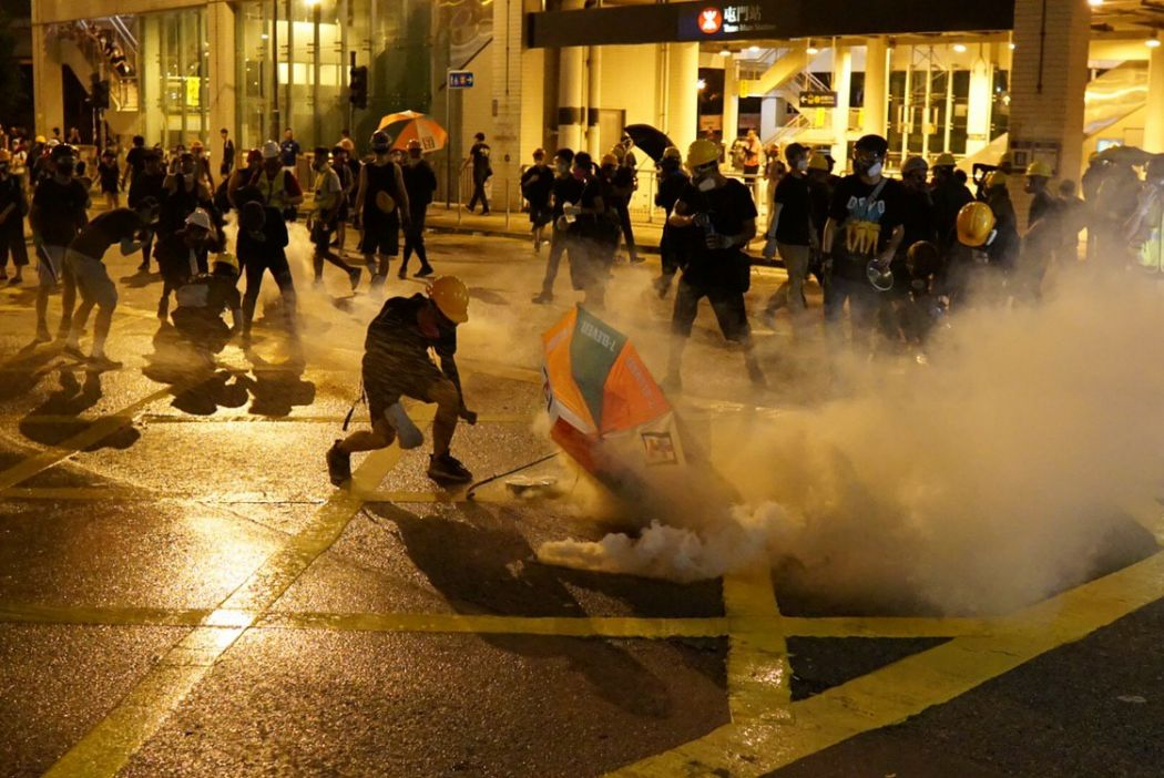 August 5 protest tuen mun tear gas