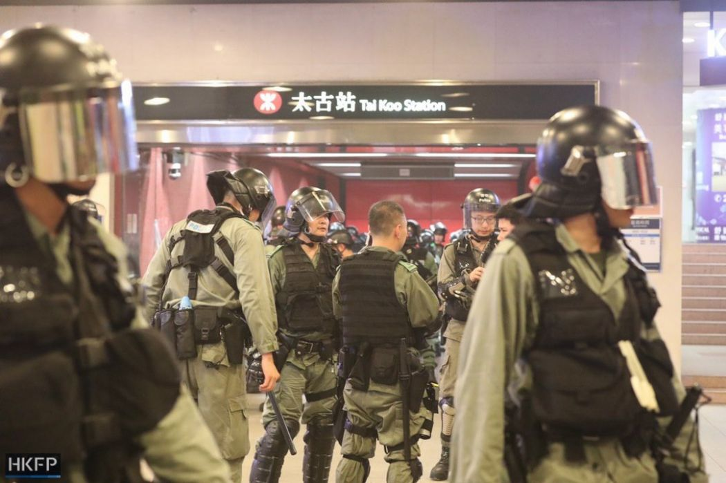 Hong Kong violence escalates as police and protesters clash in metro stations