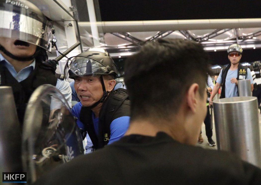 China extradition airport August 13 police protest