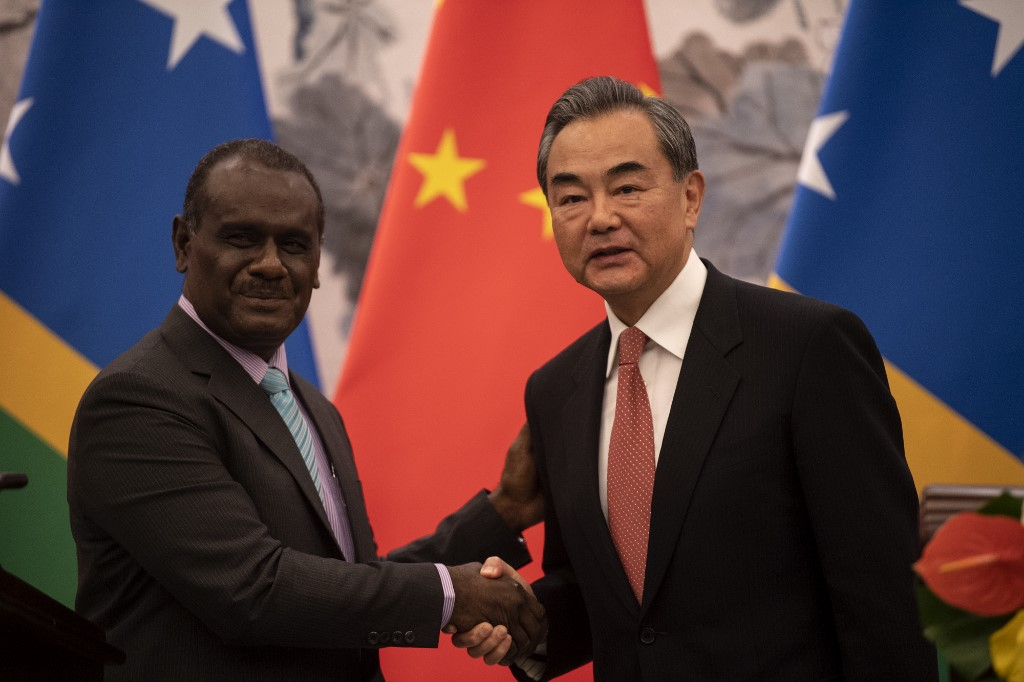 China Solomon Islands Wang Yi Jeremiah Manele
