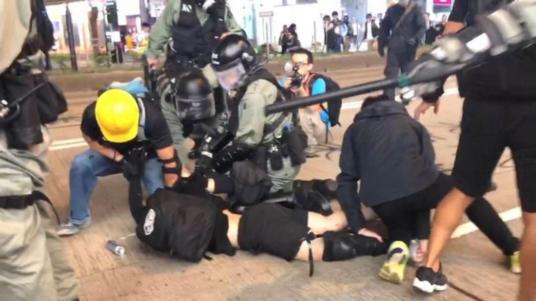 august 11 causeway bay china extradition protester arrest