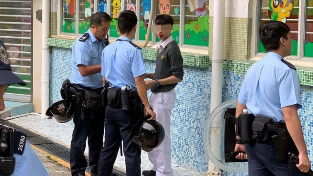 Confucian Tai Shing Ho Kwok Pui Chun College police student