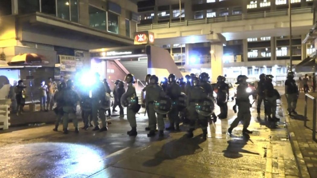 mtr mong kok protest china extradition