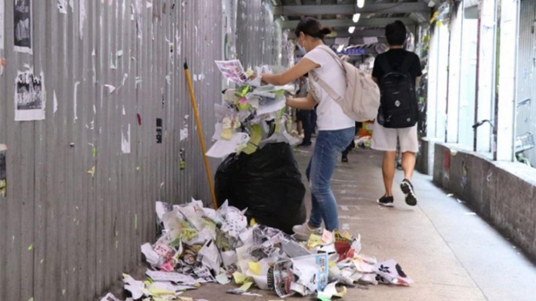 junius ho clean hk lennon wall