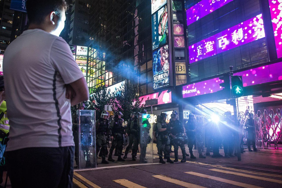 September 8 Central MTR riot police protest