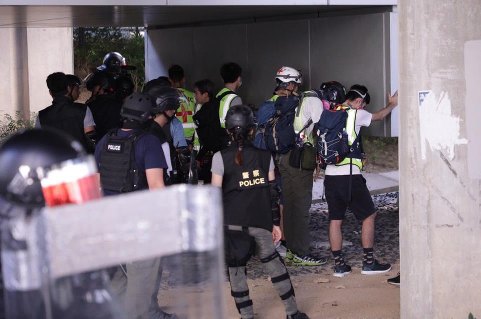 Tuen Mun September 21 protest rally medics police