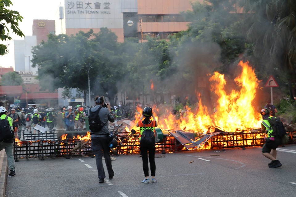 September 22 Sha Tin protest