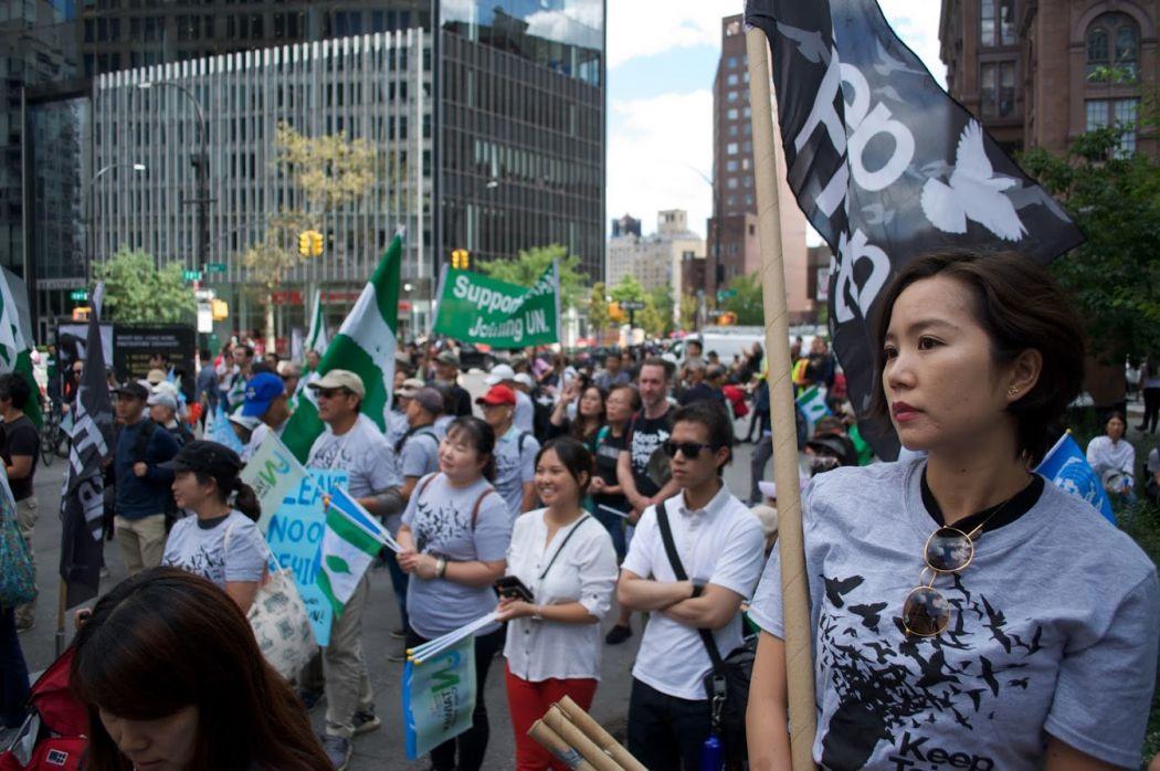 September 7 New York City Taiwan Hong Kong independence Uighur Tibet rally protest march