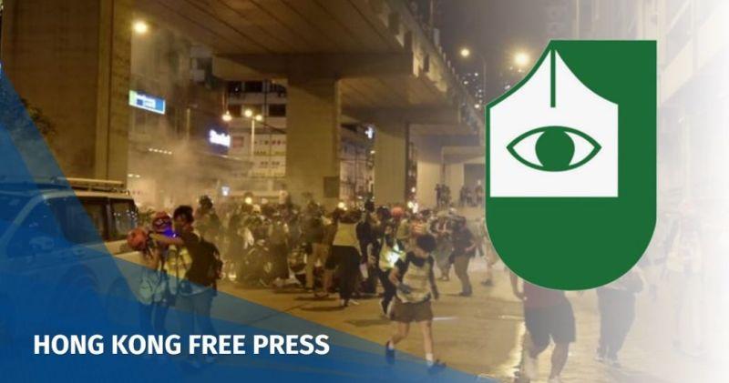 hkja mongkok china extradition police protest tear gas
