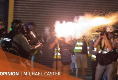 Hong Kong police crowd control weapons