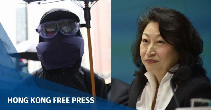 teresa cheng mask law protest emergency regulation ordinance