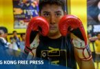 Uighur children muay thai