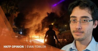 Evan Fowler protests