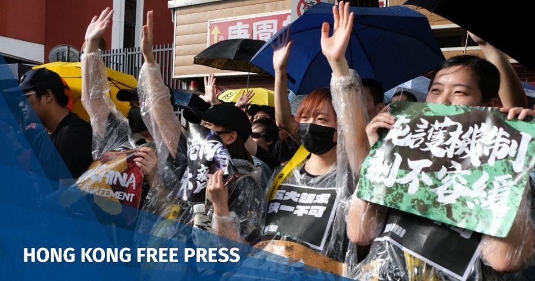September 29 Taiwan Hong Kong protest