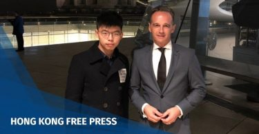 Joshua Wong and German Foreign Minister Heiko Maas