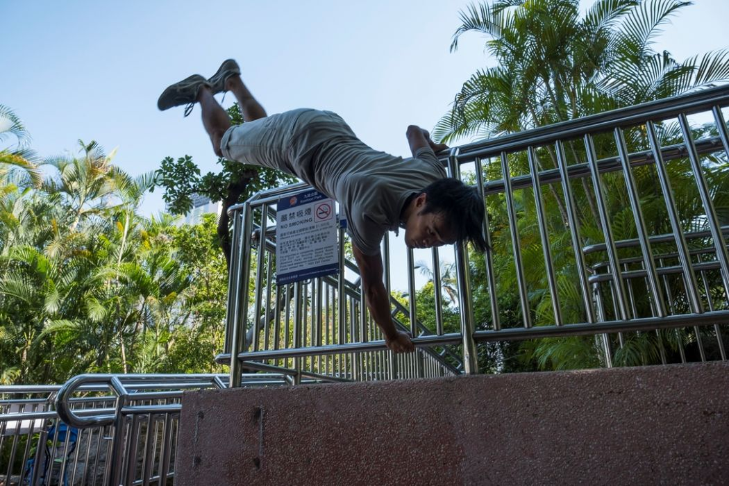 Gon Lo parkour free running protests