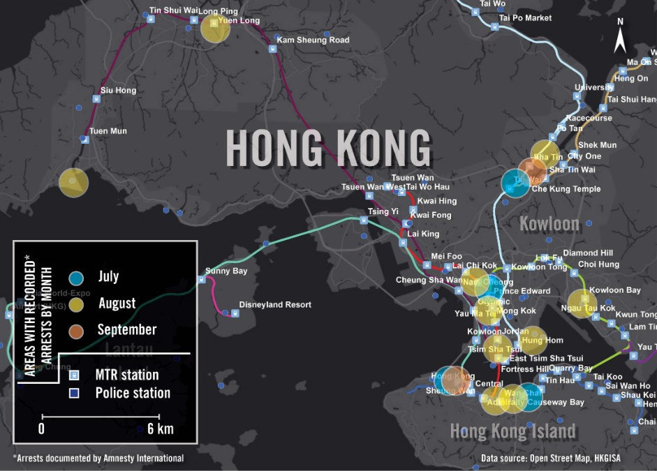 Amnesty International protests open street map data