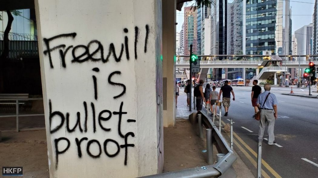 freewill graffiti hong kong protest china extradition