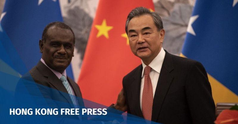 Taiwan China Solomon Islands Wang Yi Jeremiah Manele