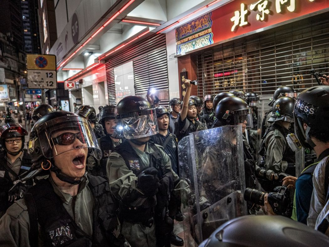 september 15 China extradition police protest causeway bay