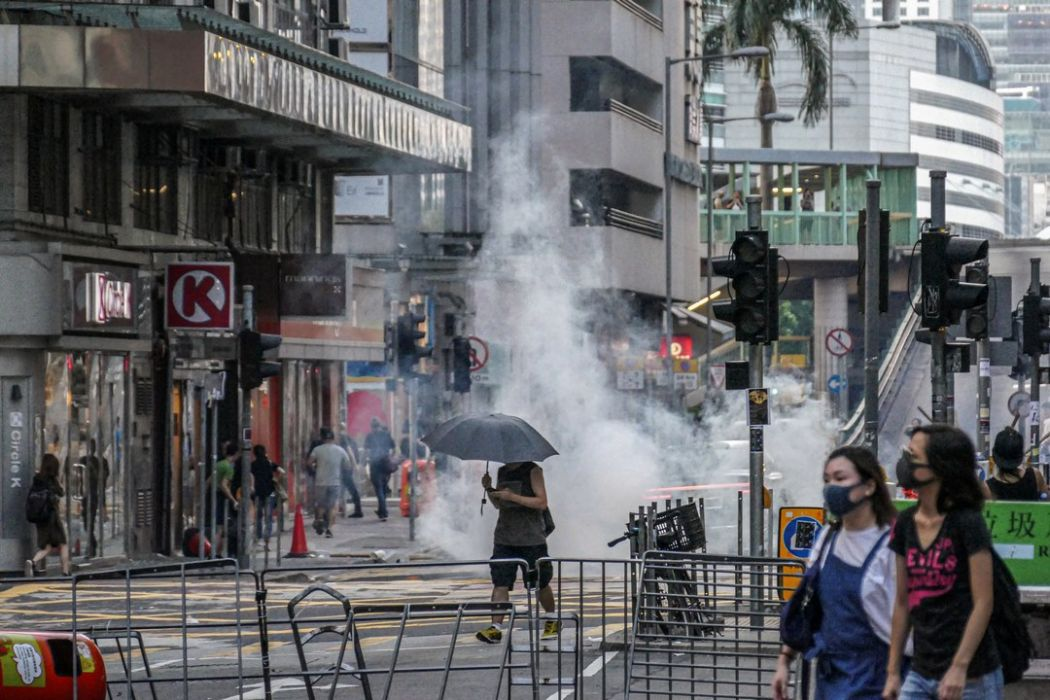 september 15 China extradition tear gas