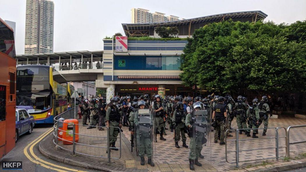 september 7 tung chung riot police