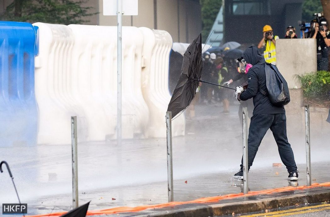 water canon cannon September 15 china extradition