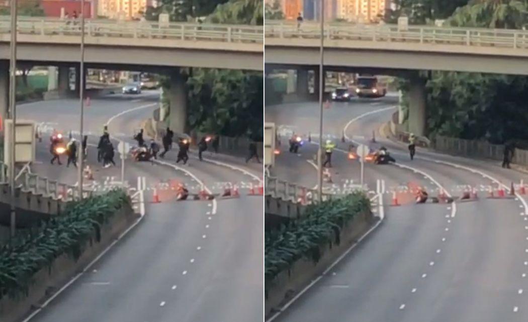 Sep 15 traffic police pistol petrol bomb