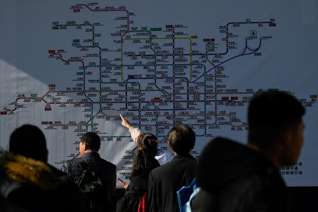 Chinese lunar new yera Beijing subway metro map