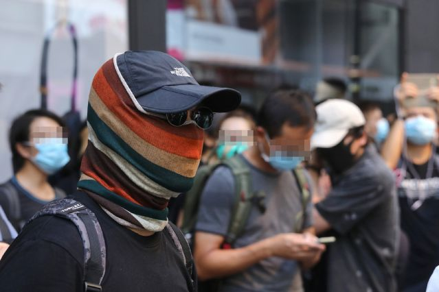mask ban march
