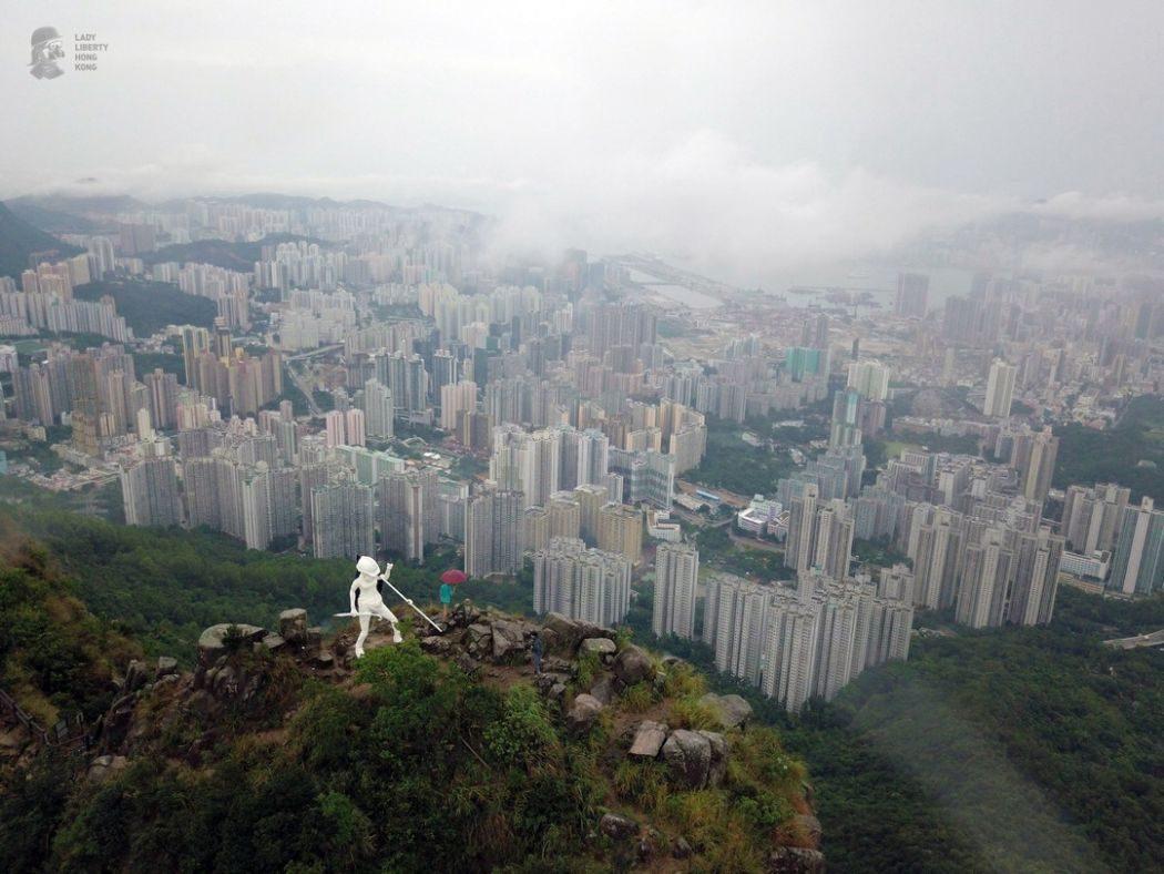 Lady Liberty democracy statue hong kong