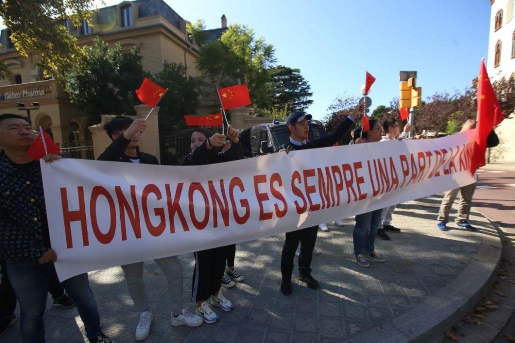 barcelona catalan solidarity protest october 25