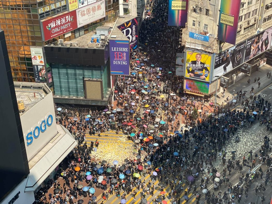October 1 National Day Causeway Bay protest Day of Mourning