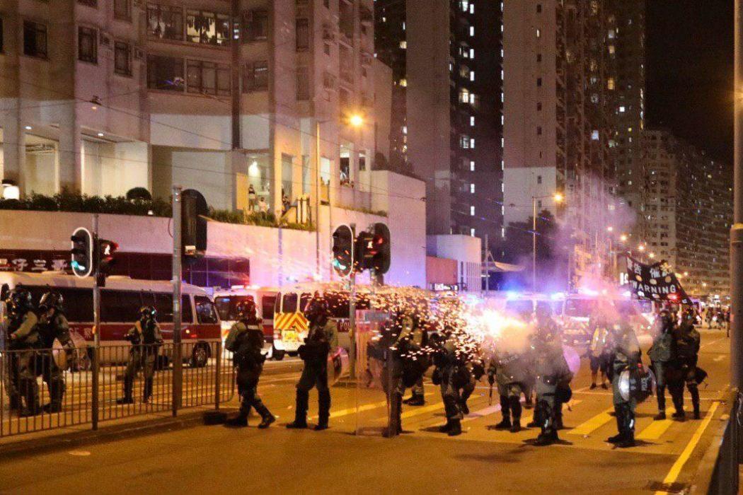 china extradition october 3 tai koo police tear gas