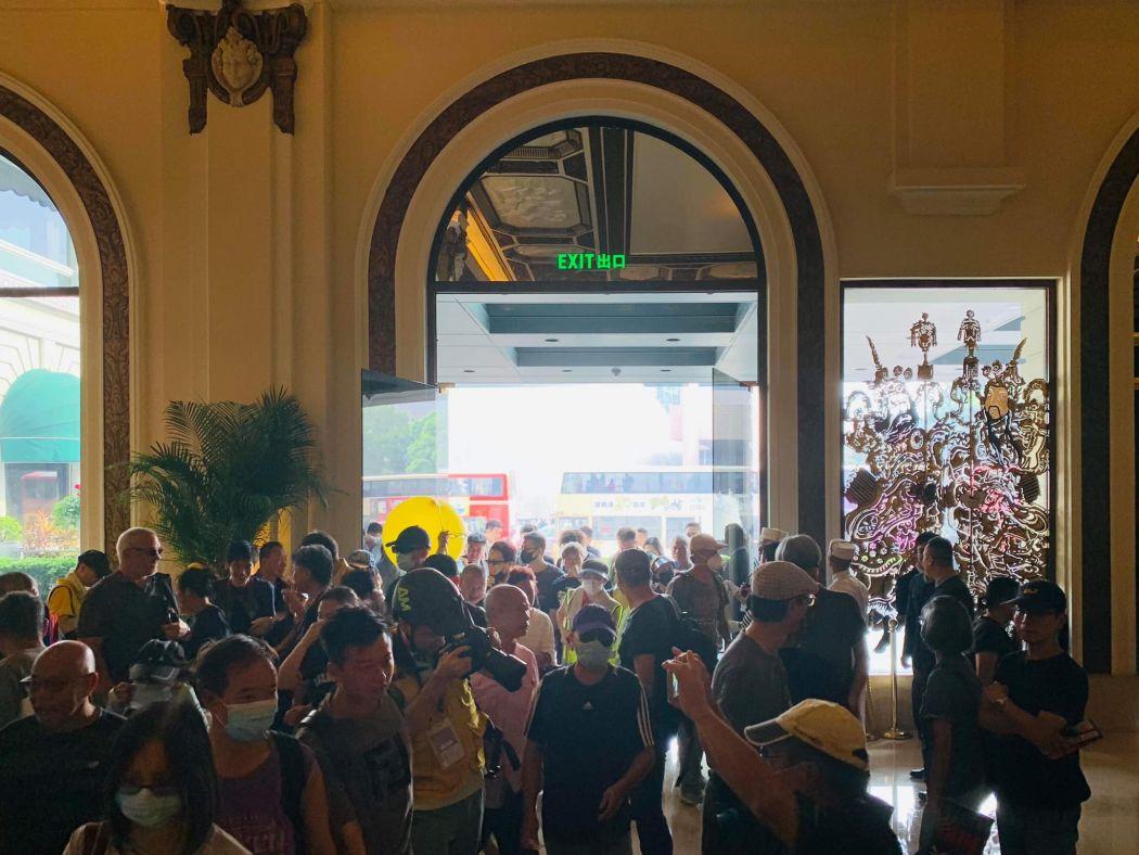 Protesters seeking refuge at Peninsula Hotel