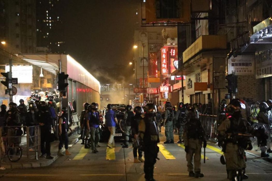 october 26 tear gas yuen long china extradition