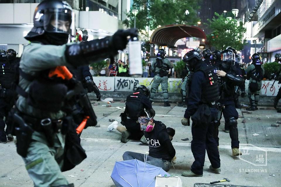 Arrests in Mong Kok