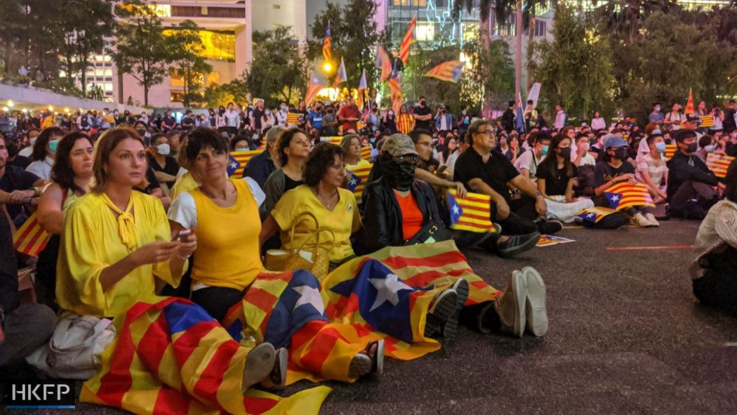 October 25 Catalan Catalunya Catalonia rally Chater Garden solidarity