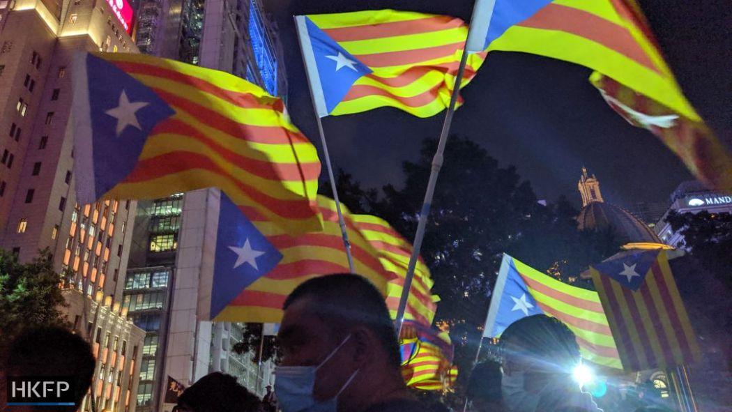 October 25 Catalan Catalunya Catalonia rally Chater Garden solidarity