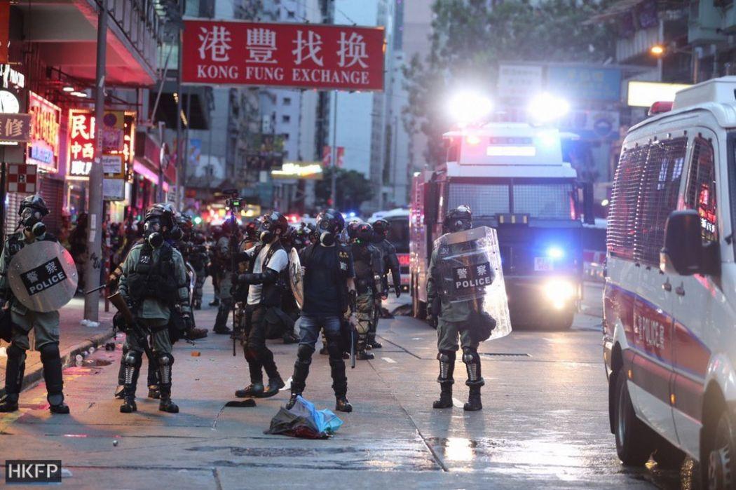 police october 6 hong kong island