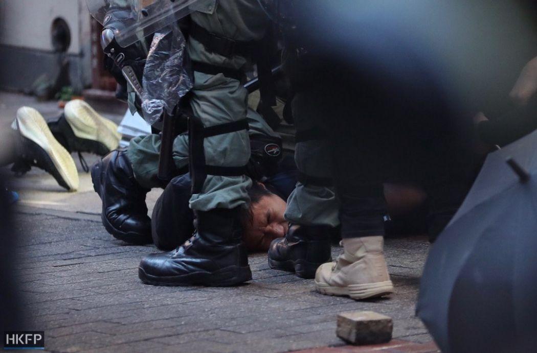 arrest october 6 hong kong island
