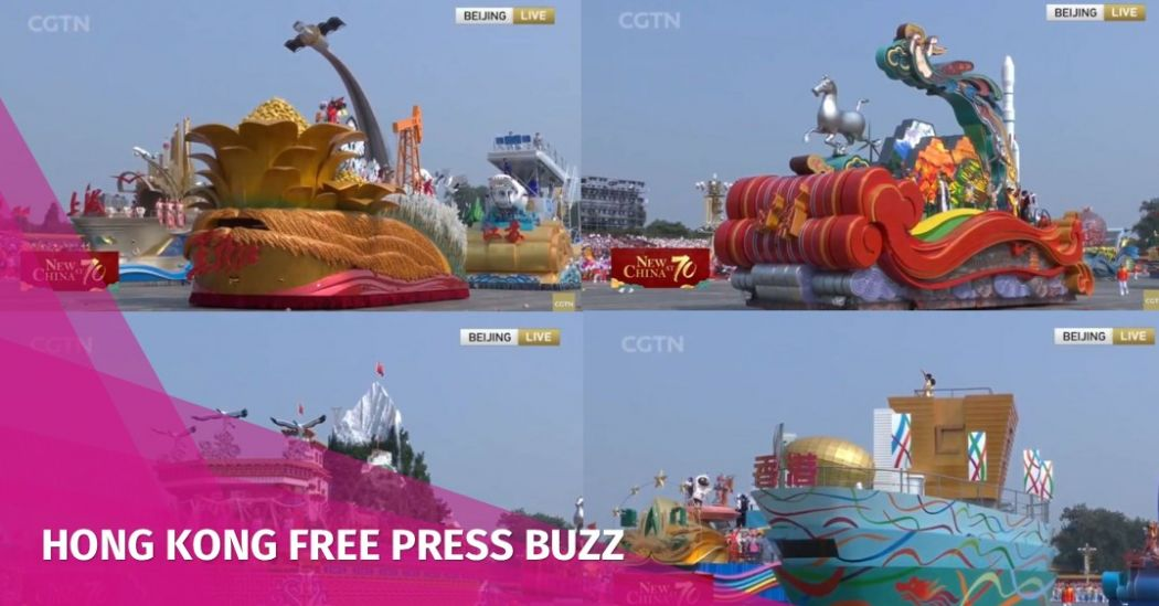 In Pictures: China rolls out extravagant, colourful and... weird floats to mark National Day | Hong Kong Free Press HKFP