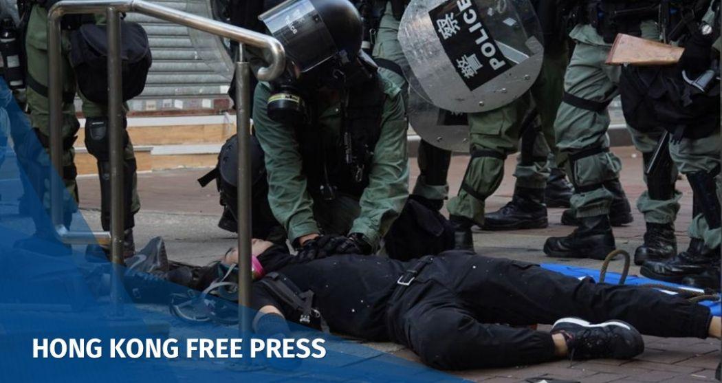October 1 protest police shot