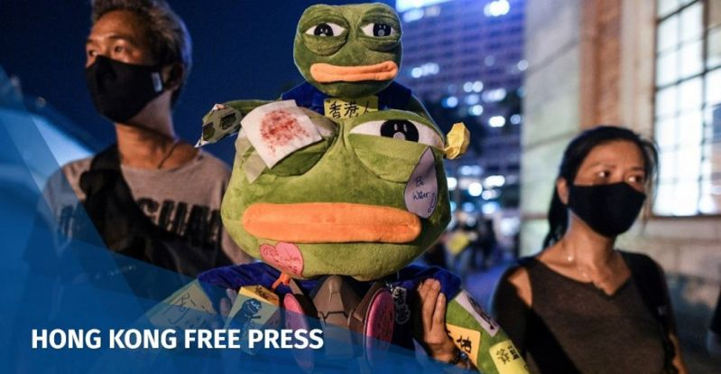 Pepe the frog Hong Kong protest symbol