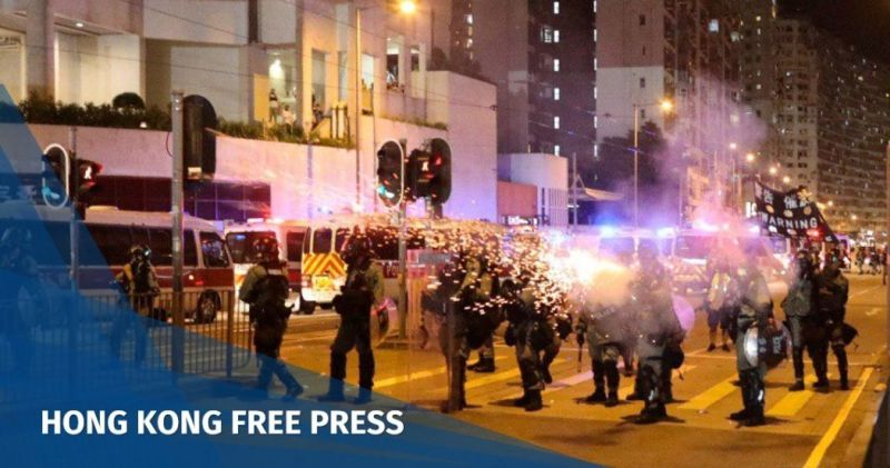 china extradition october 3 tai koo police tear gas