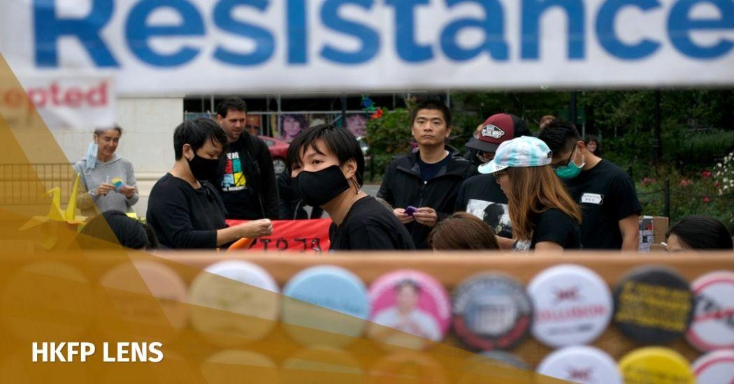 HKFP Lens: Human chain, origami and 'Lennon Wall' post-its at Hong Kong solidarity demo in New York | Hong Kong Free Press HKFP