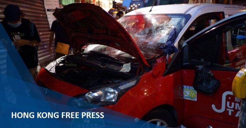 taxi ramming charged rioting