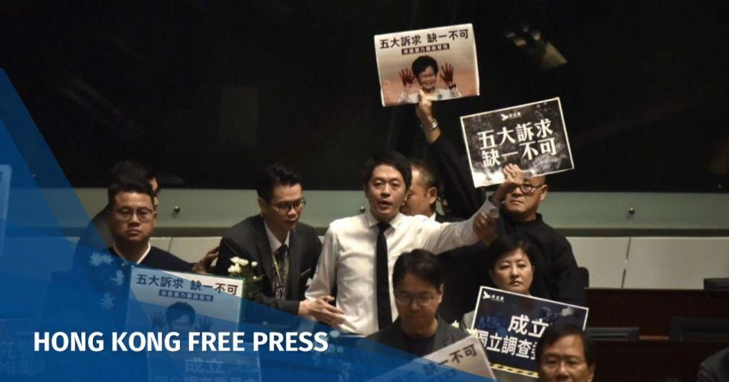 Legislative Council protest